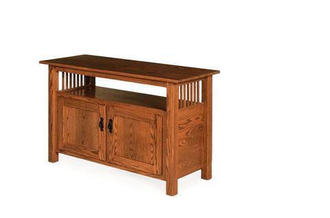 The Alamo Mission One Shelf Entertainment Center, , Occasional Table - Endicott Home Furnishings