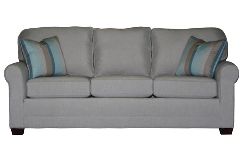 "Tailor Made 85"" sock arm sofa at promotional price with select performance fabrics from Endicott Home - 01"