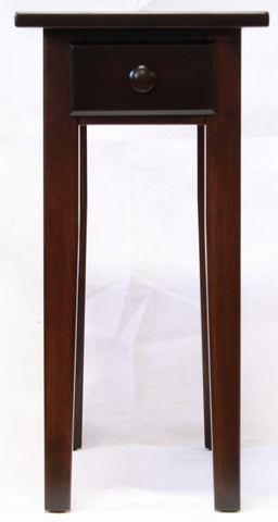 Narrow Maple Shaker Chairside End Table with Drawer  - 2