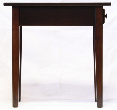 Narrow Shaker Chairside End Table with Drawer, Occasional Tables - Endicott Home Furnishings - 8