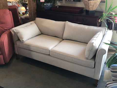 in-store photo 01 floor model smaller scaled Piper condo sofa from Endicott Home Furnishings in Portland Maine