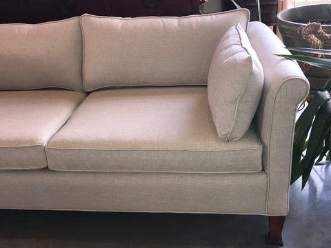 in-store photo 02 floor model smaller scaled Piper condo sofa from Endicott Home Furnishings in Portland Maine