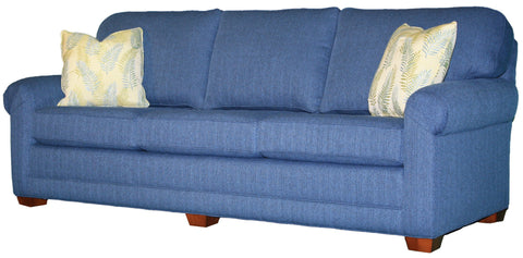 "Tailor Made Pleated Arm 3-cushion 95"" sofa from Endicott Home Furnishings in Portland Maine - 02"