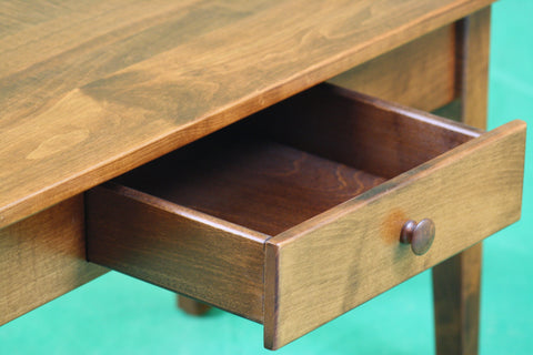 Smaller Maple Shaker Cocktail Table with Drawer - Showroom Model