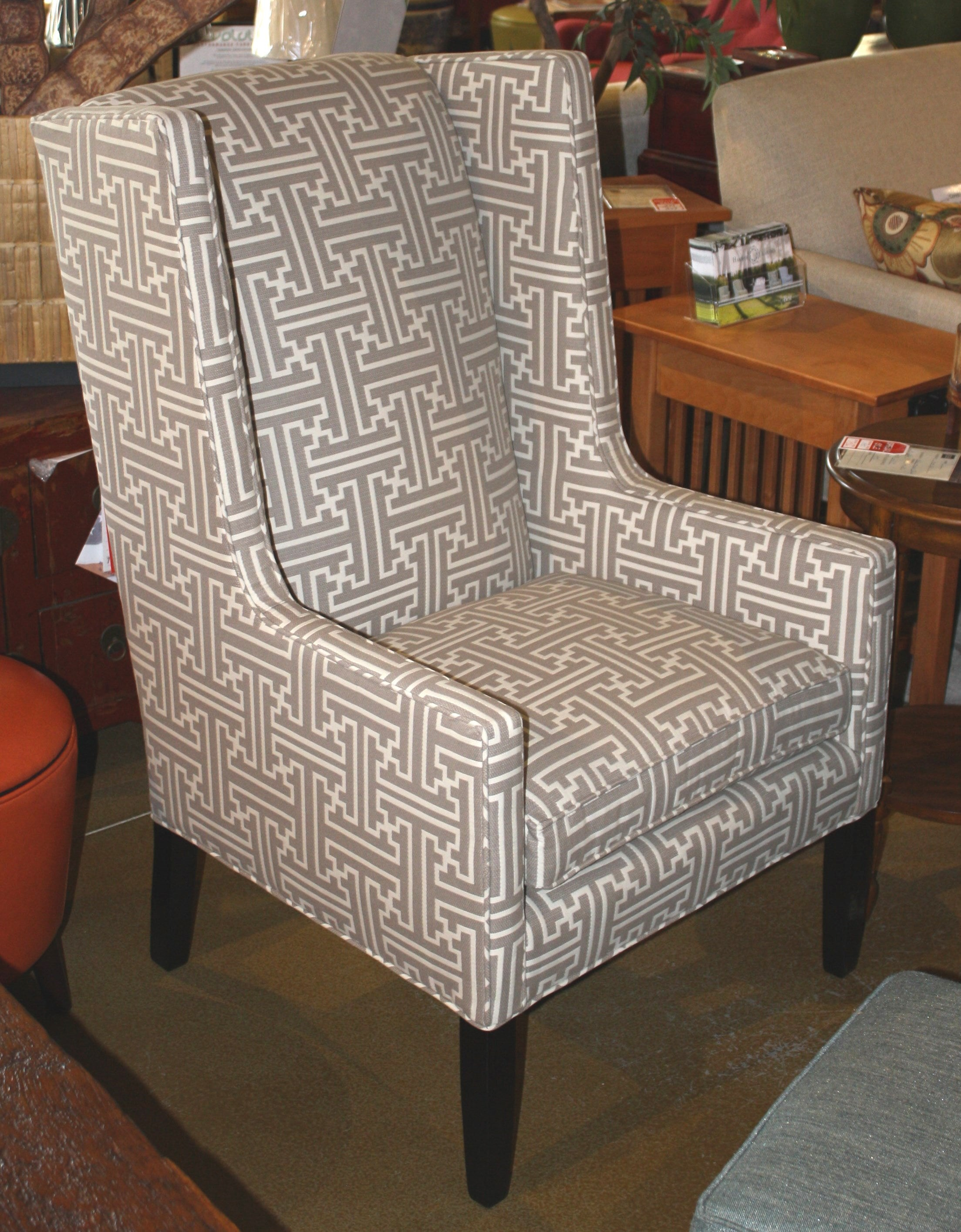 Arabella Modern Wingback Chair Showroom Model Endicott Home Furnishings