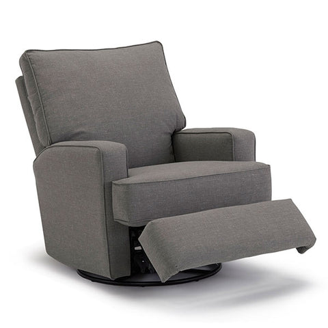 Best-Selling Swivel Rocker Recliner in Stain Resistant fabric - Showroom Models