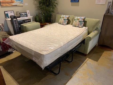 "99340-RS compact Douglas Condo Full Sleeper in grade 6 Macie Lime with luxurious 11"" air-over-coil mattress"
