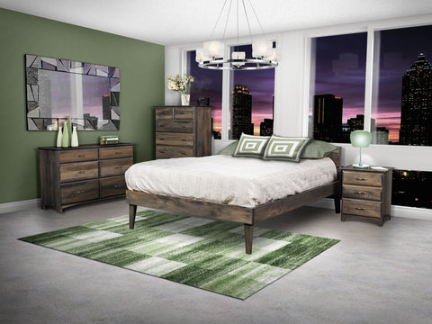 Garrison Solid Hardwood Mid-Century Modern Style Bed
