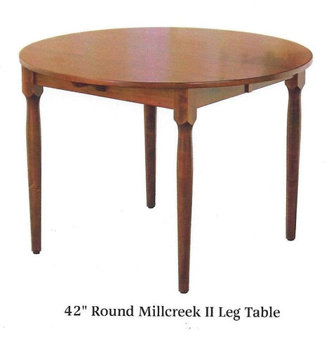 Millcreek II Legged Round Extension Dining Table