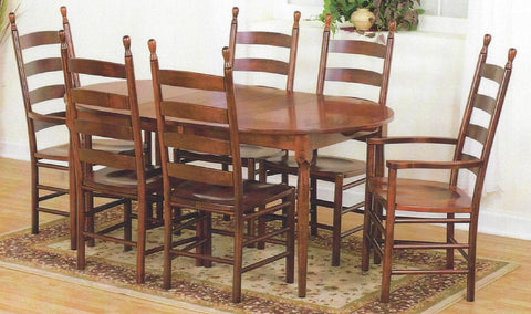 "42"" Round Maple Extension Dining Table with Four Matching Maple Side Chairs - Clearance"