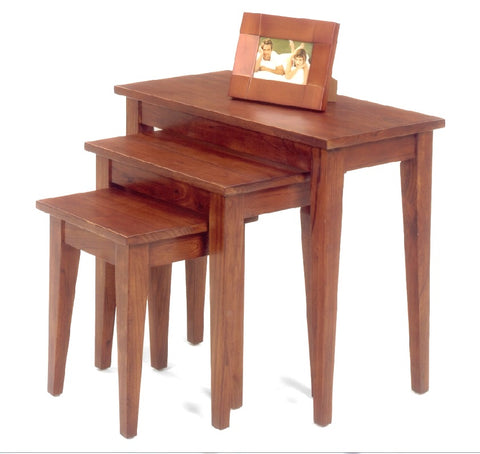 Belgrade Nesting Tables - Chestnut Finish - Showroom Models