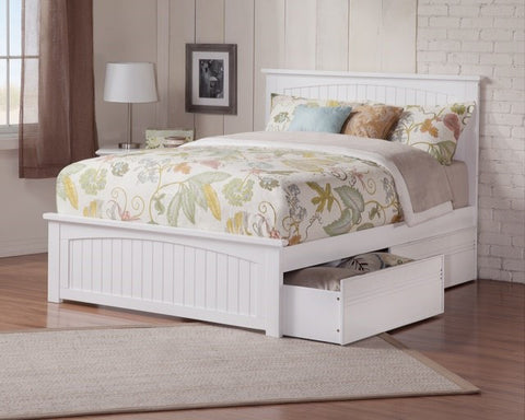 Nantucket Platform Bed with matching footboard, , Bedroom Furniture - Endicott Home Furnishings - 1