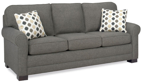 "Tailor Made Sock Arm 3-cushion 82"" Queen Sleeper Sofa from Endicott Home Furnishings"