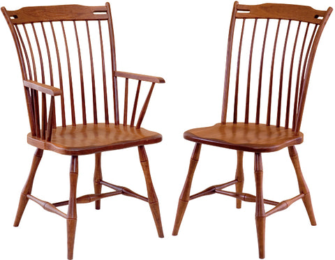 Classic and Comfortable Thumb-back Dining Chair