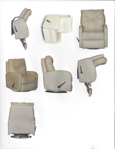 Compact Recliner in Stain-protected fabric - Showroom Models