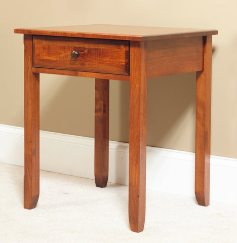 Salem Hardwood Nightstand with single drawer