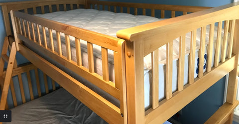 Columbia Twin over Full Bunkbed with matching underbed storage drawers - SHOWROOM MODEL