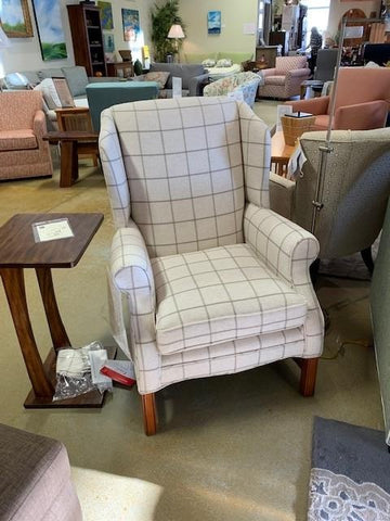 Non-toxic USA Made 305 Carmel Chair in Stansted Natural front 1
