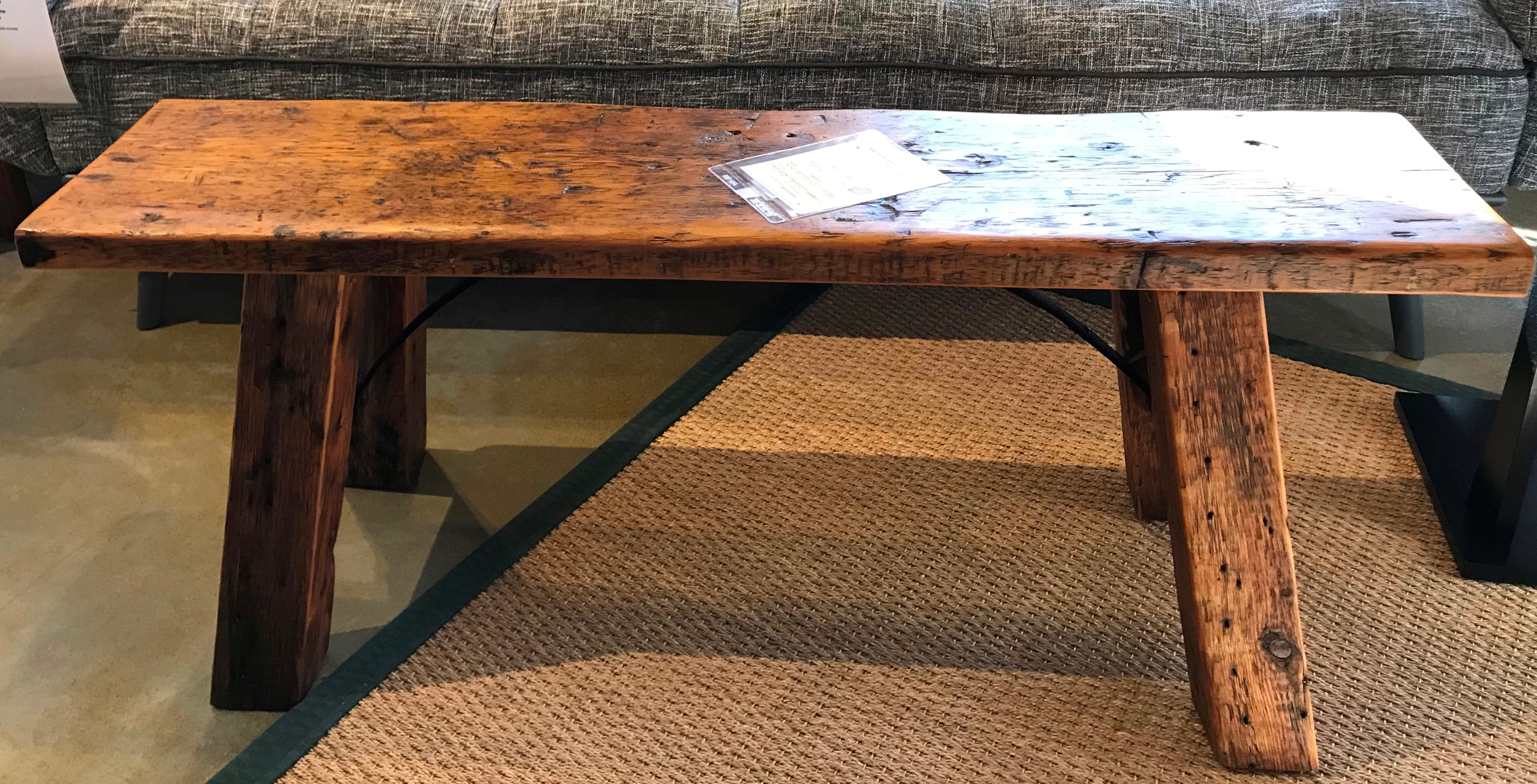 Awe Inspiring One Of A Kind Reclaimed Long Blonde Cocktail Bench Table Pabps2019 Chair Design Images Pabps2019Com