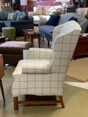 Cozy and Supportive Smaller Wing Back Chair - Showroom Models