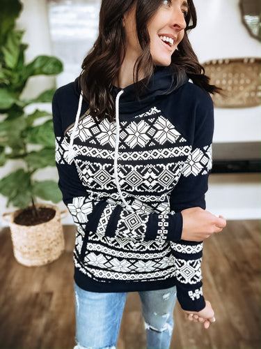 AMPERSAND AVENUE DOUBLEHOOD SWEATSHIRT - FROSTY