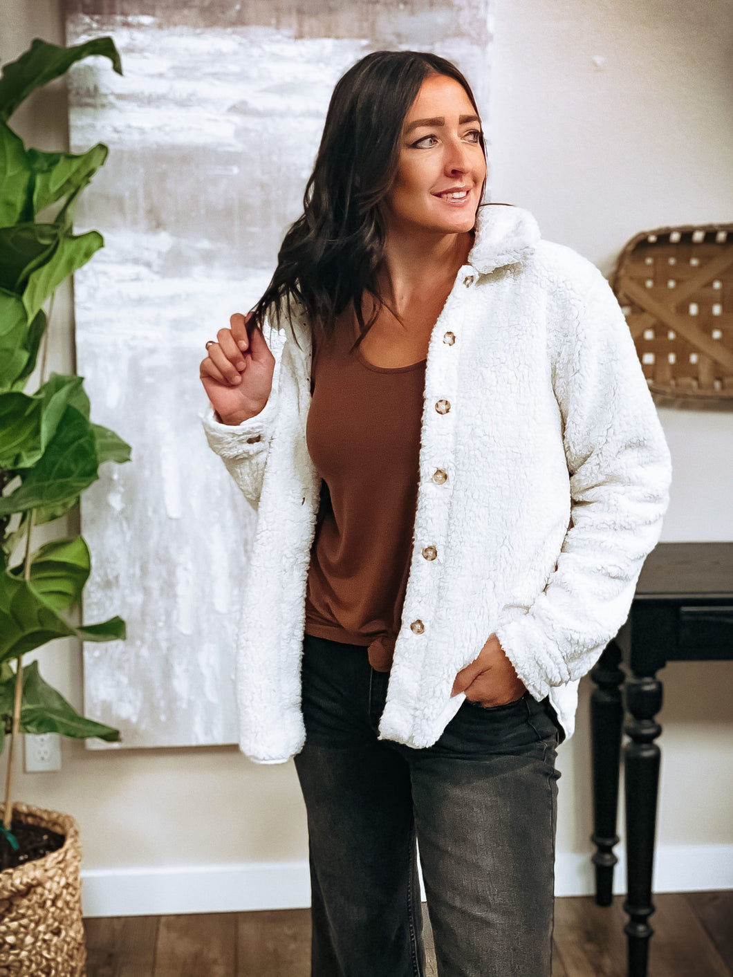 Stewart Button Down Sherpa Jacket