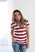 Load image into Gallery viewer, Ampersand Avenue Striped Essentials Top