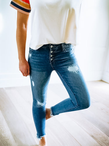 DREW BUTTON FLY JEANS