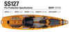 Buy Bonafide SS127 Fishing Kayak online at Blueway Outfitters!