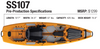 Buy Bonafide SS107 Fishing Kayak online at Blueway Outfitters!