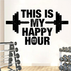Motivational Wall Sticker - This Is My Happy Hour