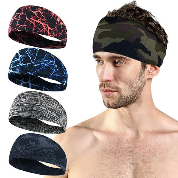 Wide Non-Slip Head Sweatband - Fashionable Unisex Designs