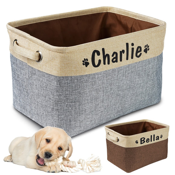 Personalised Dog Toy Storage Basket