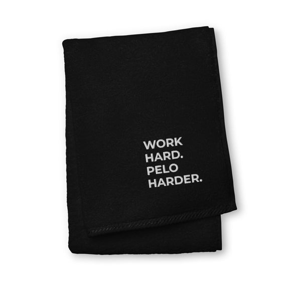 Luxury 100% Turkish Cotton Sport Towel - WORK HARD, PELO HARDER.