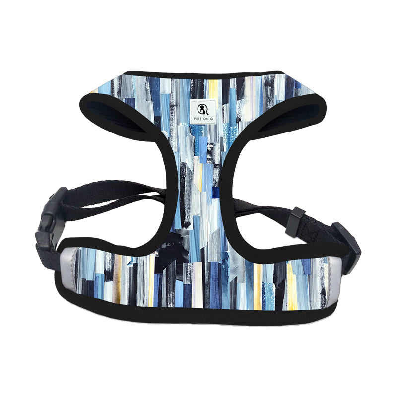 Abstract Blue Dog Chest Harness