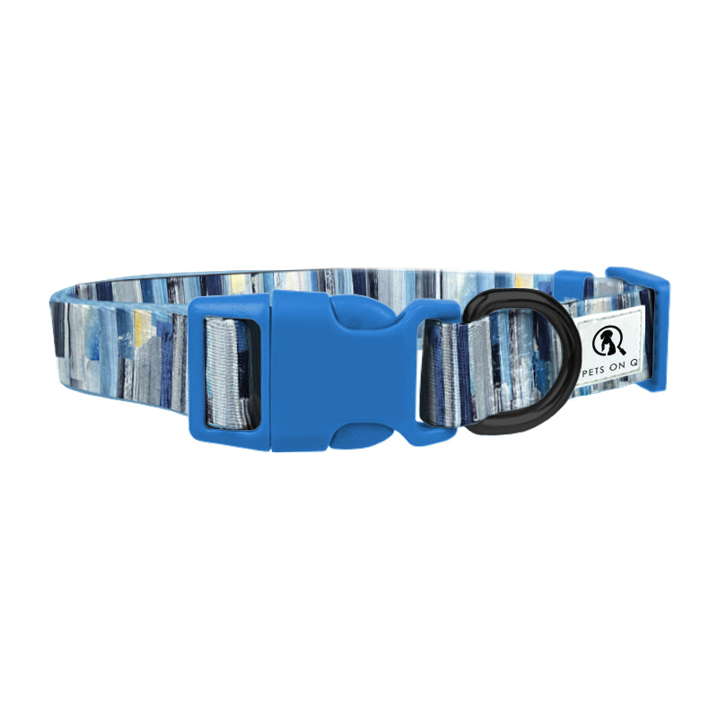 Abstract Blue Dog collar