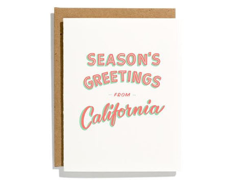 California Seasons Greetings