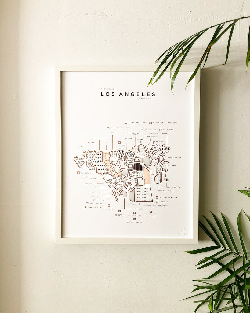 42 Pressed Los Angeles Map