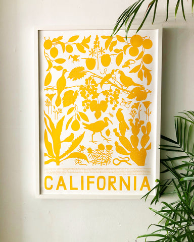 Golden California Poster