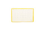 Square Monthly Ben Hur Planner - Yellow