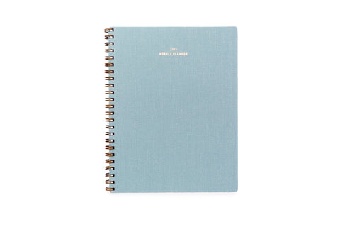 2019/2020 Weekly Notebook Planner- (Chambray Blue)