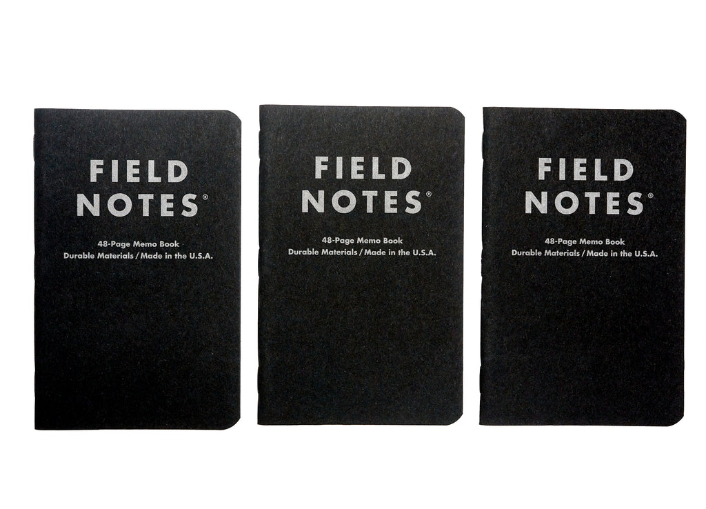 Field Notes Pitch Black Memo Notebooks