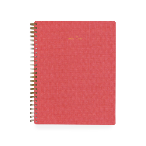 2020/2021 Weekly Notebook Planner - Coral (Shorthand exclusive)