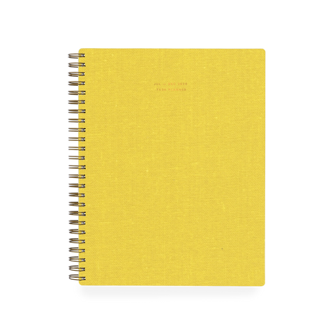 2020 6 Month Weekly Notebook Planner - Yellow (Shorthand exclusive)