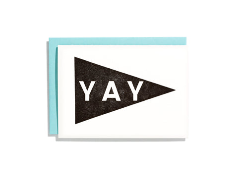 Yay Pennant Black - Card