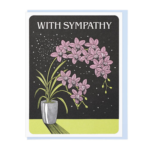 With Sympathy Orchids
