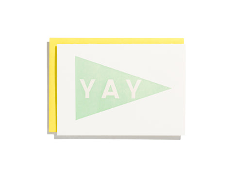 Yay Pennant Mint - Card
