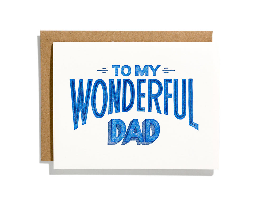 To My Wonderful Dad