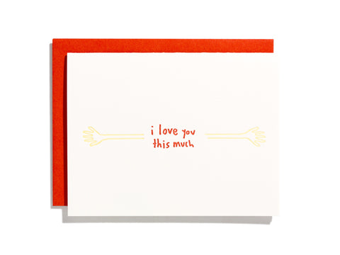 I Love You This Much - Card