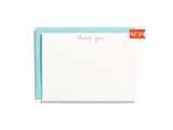 Handwritten Thank You Pink Flat Note Box Set